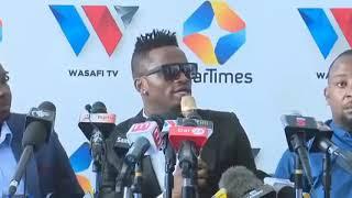 C.E.O wa Wasafi media Diamond platnamz afanya uzinduzi wa Wasafi tv,king'amuzi cha startimes