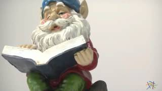 Happy Pappy Garden Gnome With Book - Product Review Video