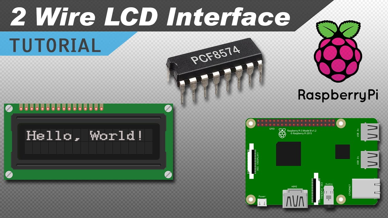 how to setup an i2c lcd on the raspberry pi [ 1280 x 720 Pixel ]
