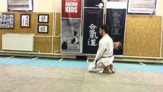 ushiro ukemi (backwards roll) 1st variation [TUTORIAL] Aikido empty hand technique:
