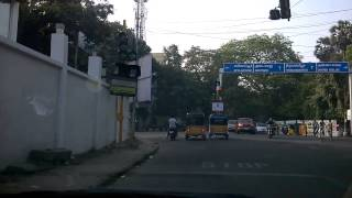 Disco Traffic Signal at the junction of Chamiers Raod and R.A.Puram 1st Main Road