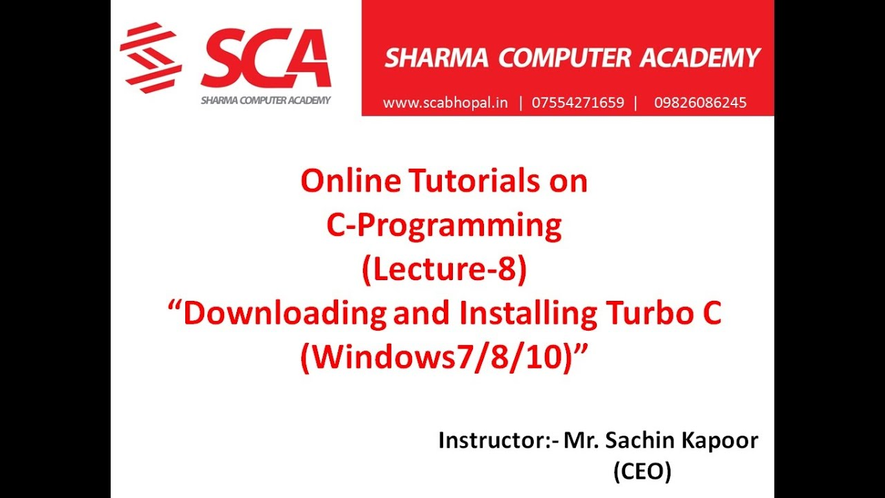 Lec 8 C Programming By Sachin Kapoor Download And