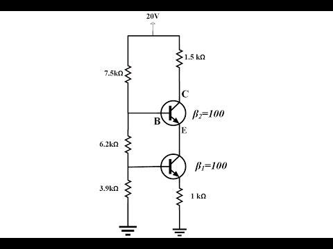 Elektronik Ders 34 BJT Transistör 2 Tane Transistör ile Voltage Divider Örnek