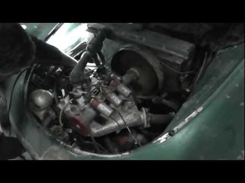 Arranque do motor do Autounion 1000 sp de 1959