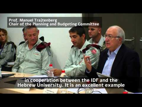 Chief Of Staff Visit at Hebrew University, Joint Military-Academic Effort