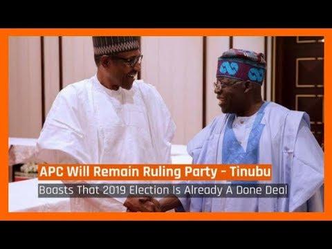 Nigeria News Today: 2019: APC'll Remain Ruling Party – Tinubu (14/02/2018)