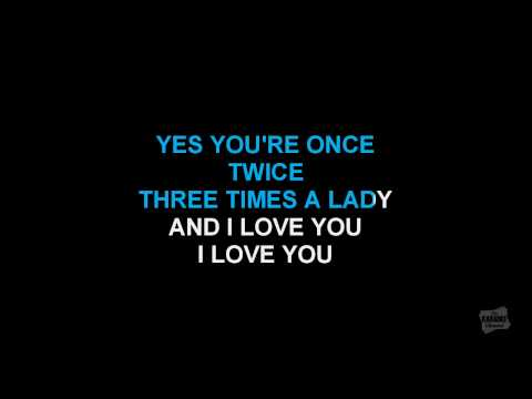 Three Times A Lady in the style of Commodores karaoke version with lyrics