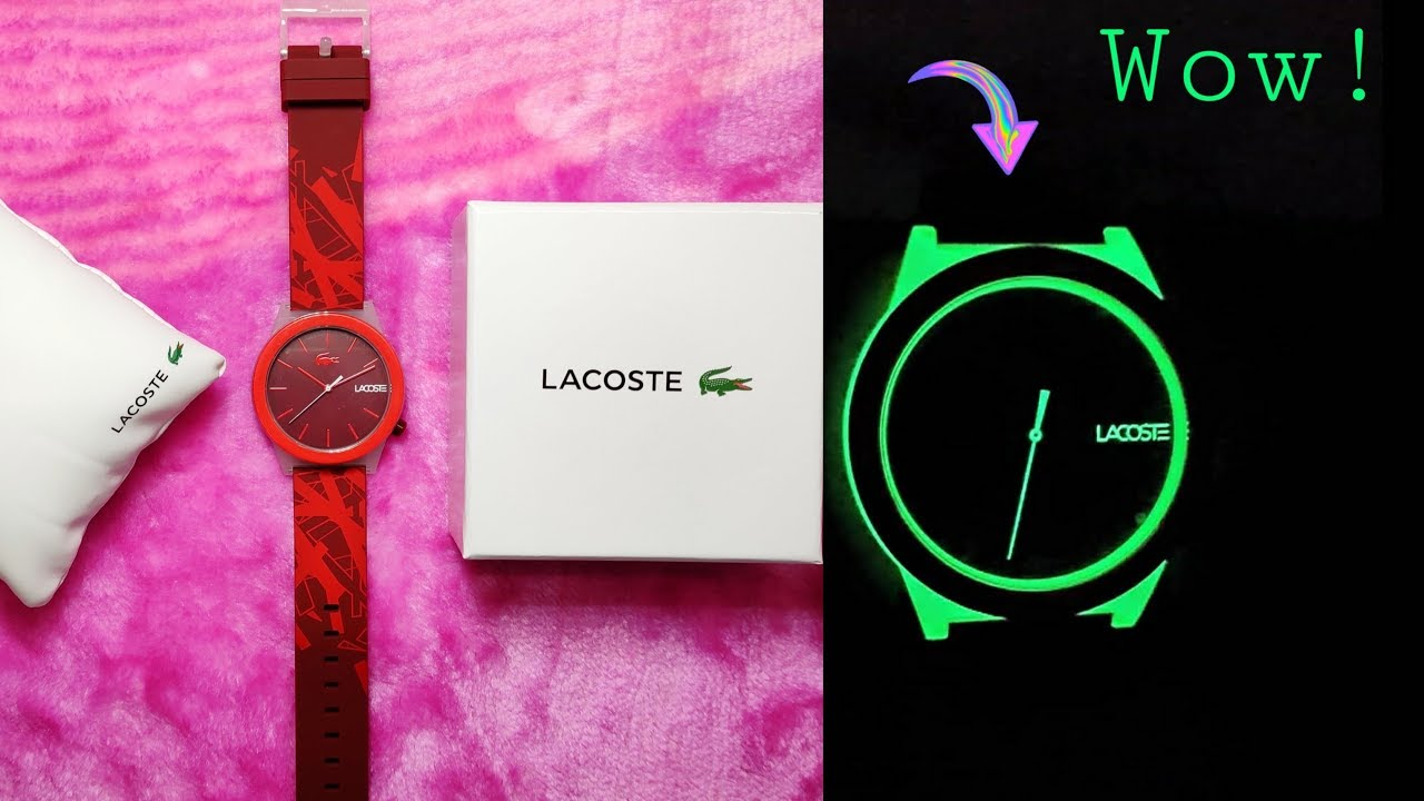 Lacoste Motion Glow In Dark Watch Unboxing Review Youtube