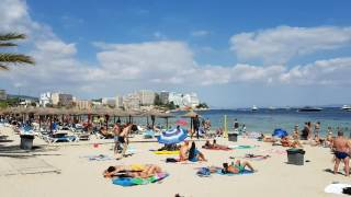 Magaluf beach, Mallorca, Spain. August 2016