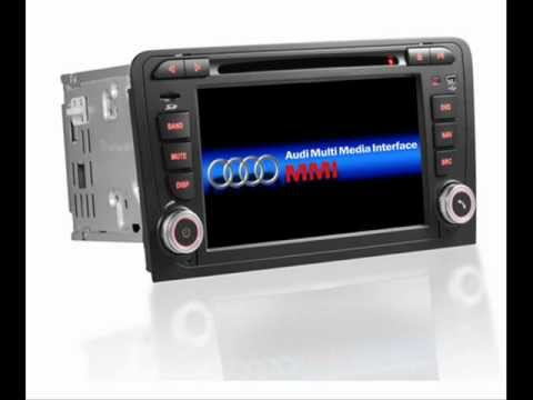 Audi a3 dvd gps navigation double 2 din radio in dash for Mueble 2 din audi a3