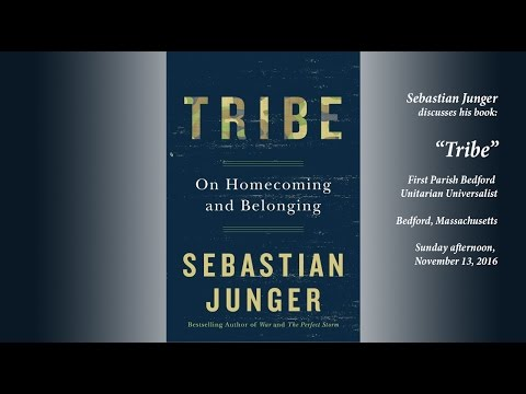 "Sebastian Junger discusses his book ""Tribe."""