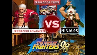 KOF 98 - NINJA 98  vs FERNANDO ADVANCED -  ( EMULADOR YZKOF/FT20 ONLINE AO VIVO)