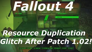 Fallout 4 Infinite Unlimited Resources Duplication Glitch After Patch 1.2 Fallout 4 Glitches