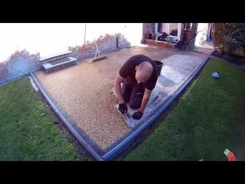 Resin bound patio installation by Willow building services