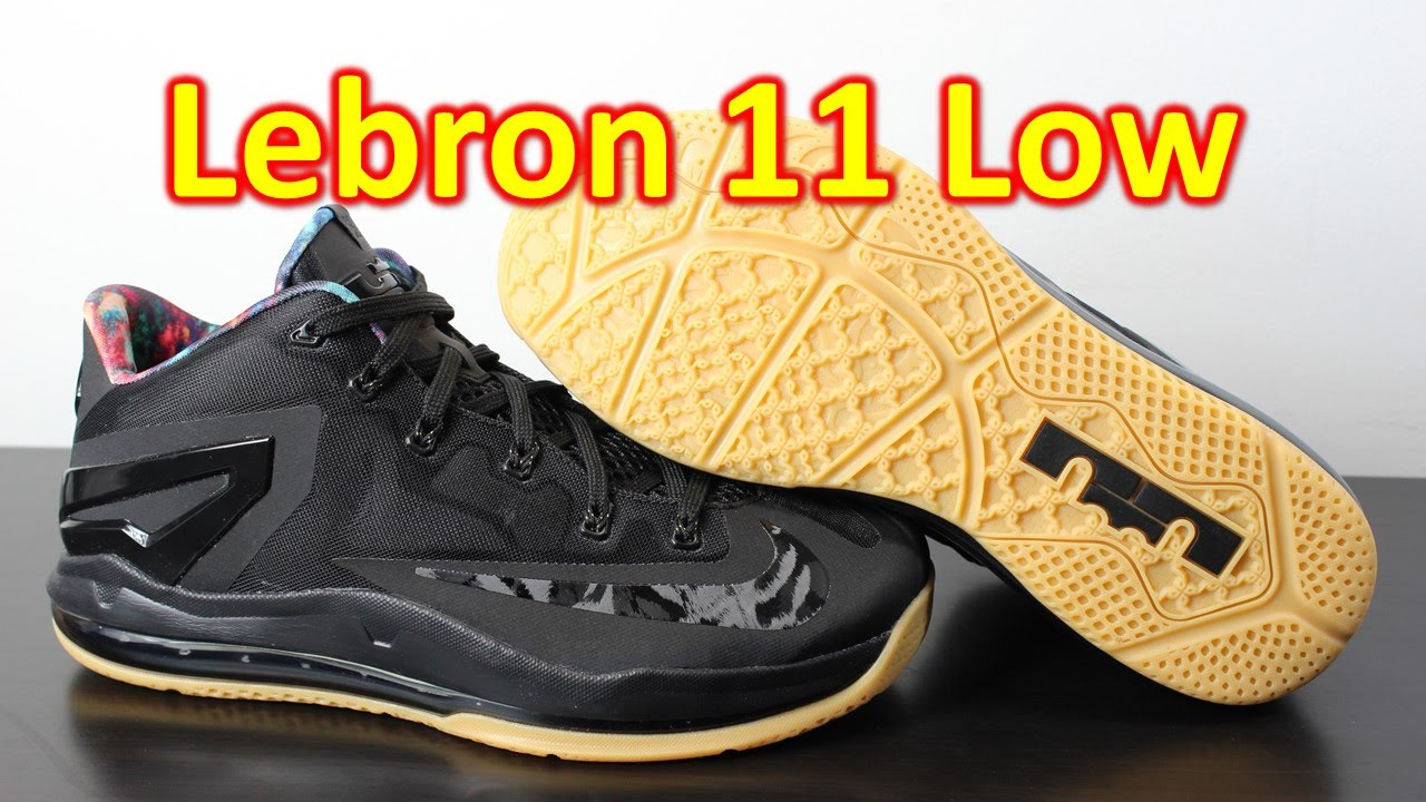 Nike Lebron 11 Low Black Gum - Review + On Feet - YouTube bffc428302df