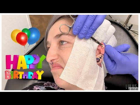 Ally's Birthday Helix Piercing!! | EP. 335