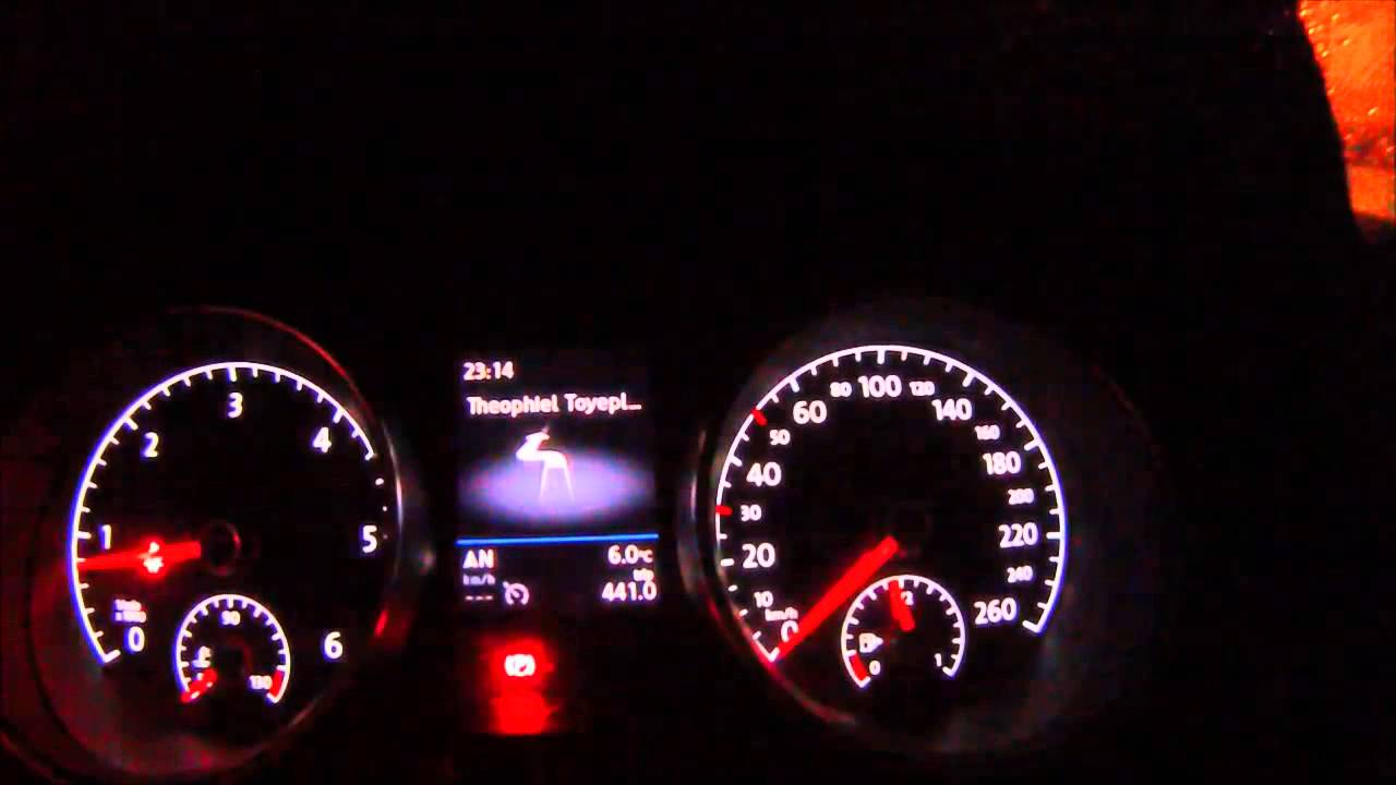 VW dashboard display functions - VW Golf 7 - 2013