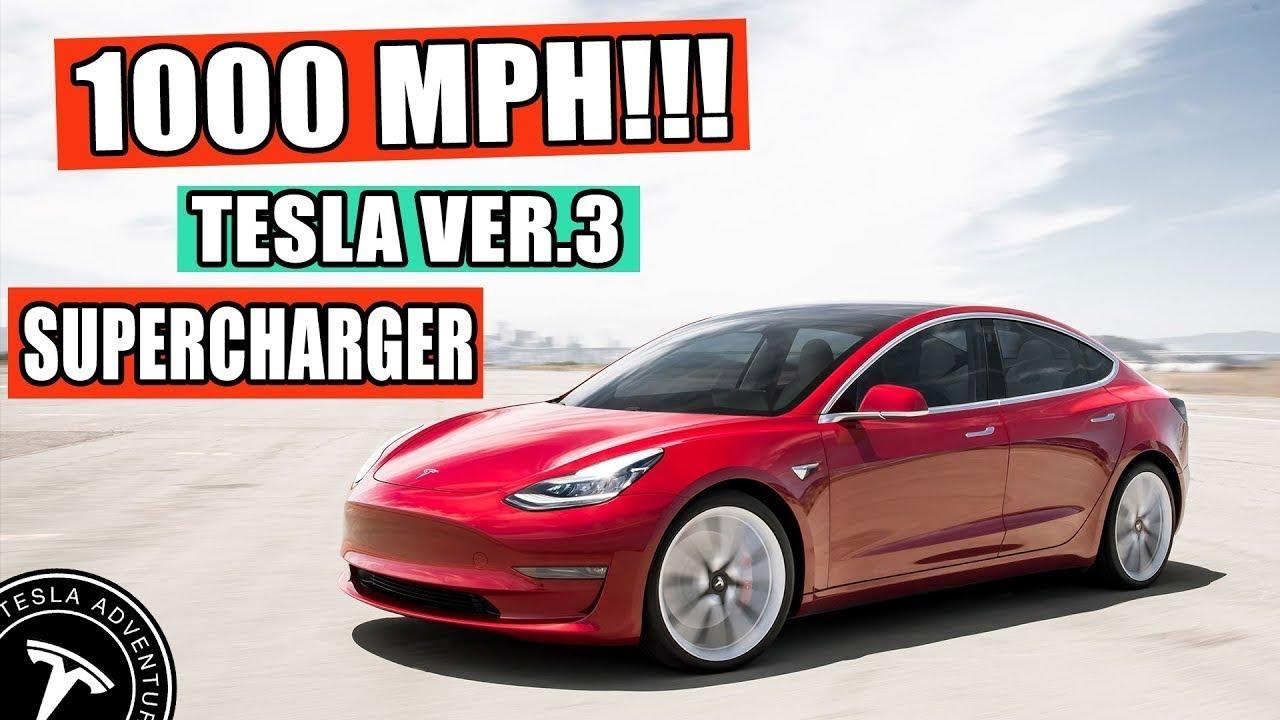 Tesla V3 Supercharger - 1000 Miles Per Hour!