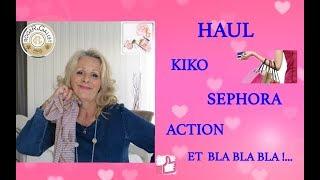 Haul  🛍  Kiko/ Sephora /Action / Roger & Gallet  ☞ Et Bla Bla Bla !...