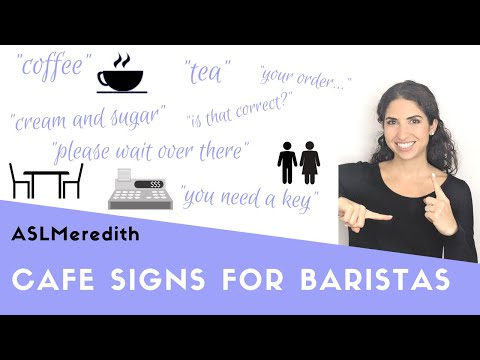 Beginner ASL: Learn Cafe Interaction Signs In American Sign Language