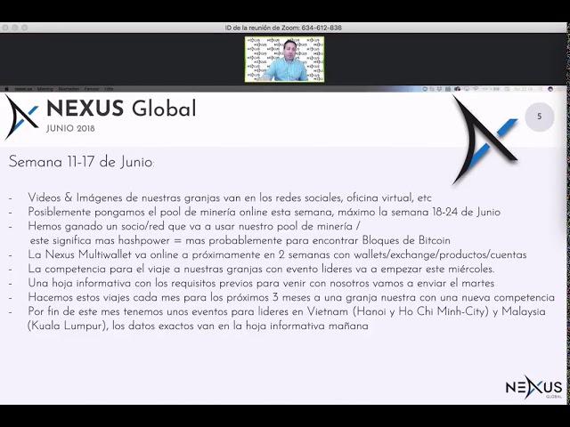 Webinar Oficial Christian Scheibener, CEO de Nexus En español 10⁄06⁄18