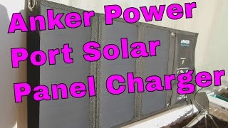 Anker Power Port Solar - Foldable Portable Solar Panel 21 Watts charging PowerBank