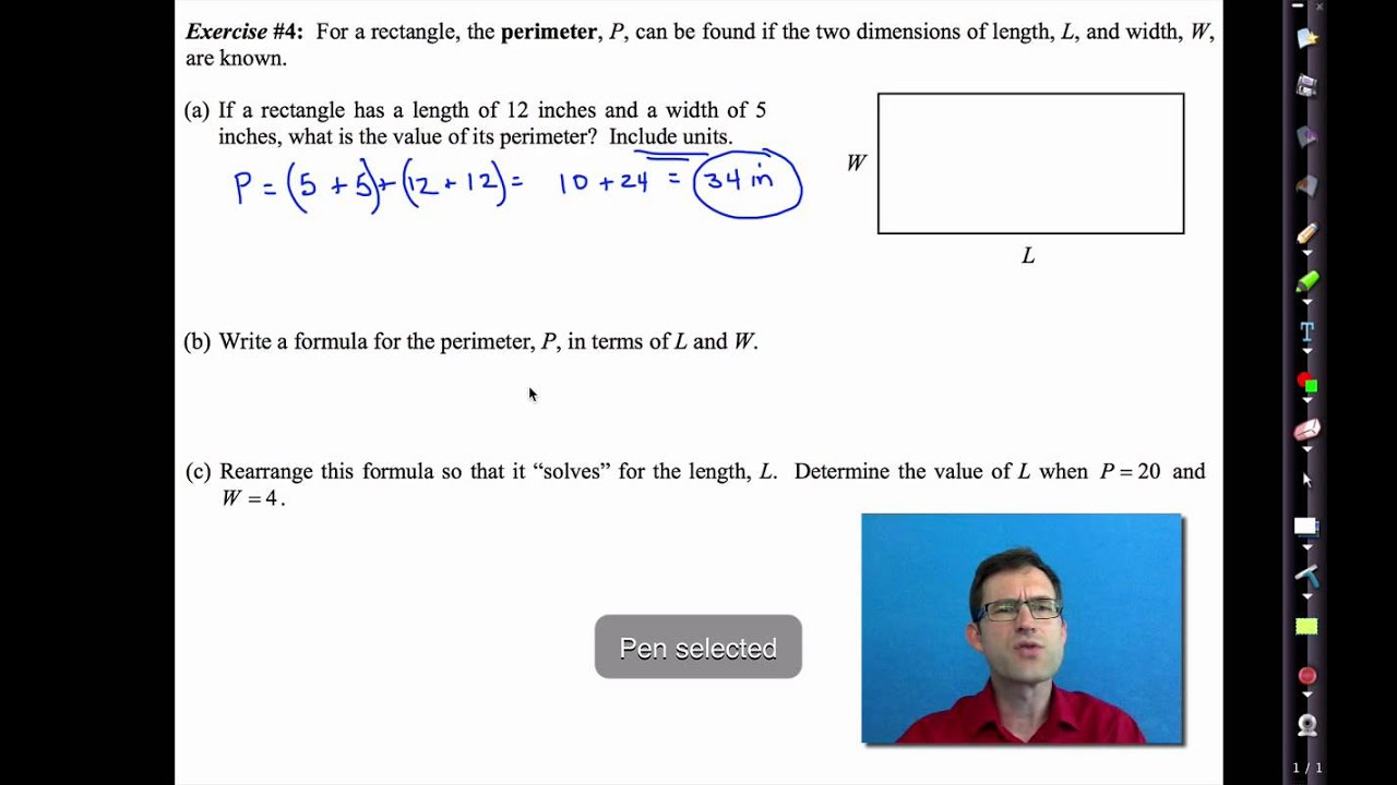 Common Core Algebra I Unit 2 Lesson 7lving Equations With Unspecified Constants