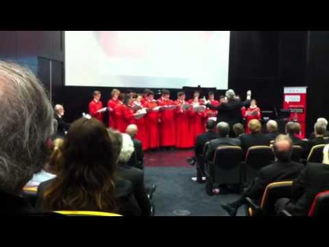 Melbourne Brain Centre launch Trinity College choir Melbour