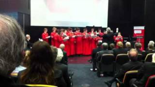 Melbourne Brain Centre launch Trinity College choir Melbour