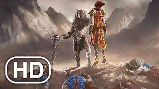 Хищник убивает Саб Зиро и всю сцену из состава Mortal Kombat 4K ULTRA HD