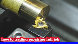 how to lathe machine threading repairing full joke video