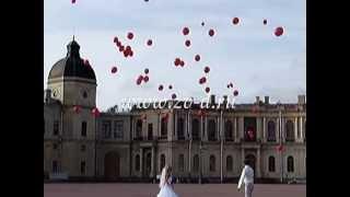 Фееричный запуск шаров на свадьбе!
