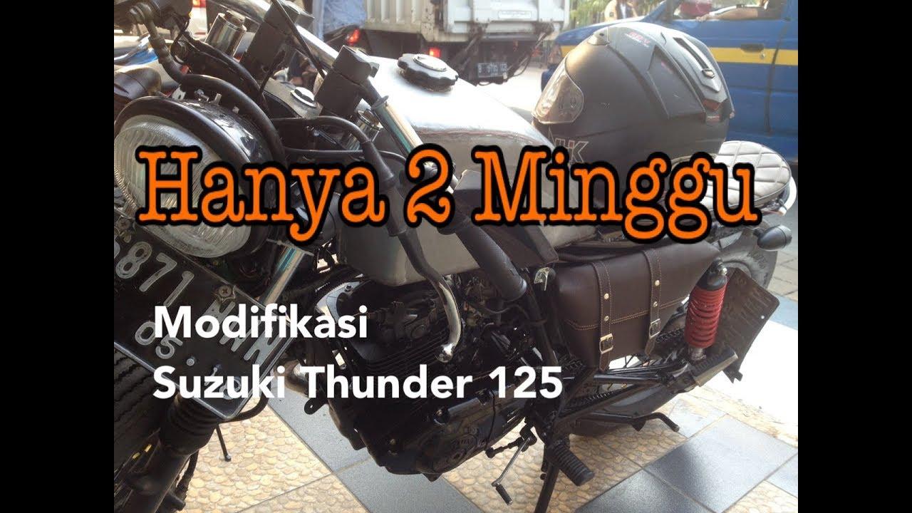 Modifikasi Suzuki Thunder 125cc Bobber Japstyle Pengerjaan Cukup