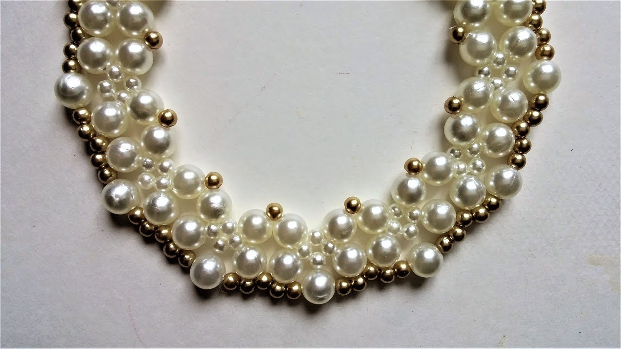 beaded wedding necklace pattern YouTube