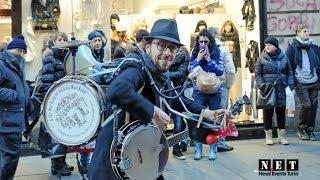 Уличные музыканты в Италии - Человек оркестр в Турине. NET