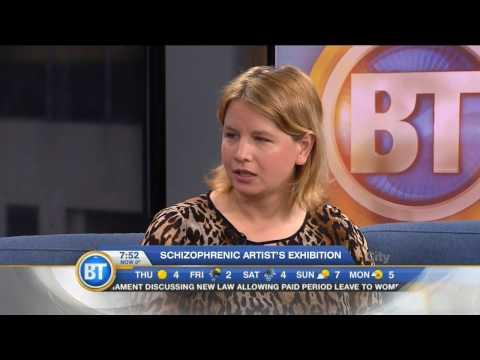 Artist Alana Barrell on Breakfast Television (BT) Montreal
