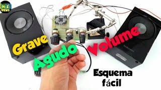 Controle de GRAVE, AGUDO e VOLUME totalmente FUNCIONAL para amplificador de áudio. screenshot 2