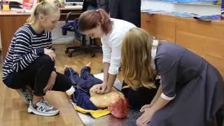 Урок ОБЖ в московской школе №883