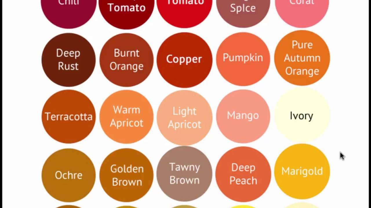 Warm Color Palette Gorgeous Warm Autumn Color Palette  Seasonal Color Analysis  Youtube Design Inspiration
