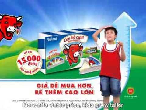 Quảng cáo phô mai Con Bò Cười 2013 - Giới thiệu hộp phô mai Con Bò Cười 4 miếng