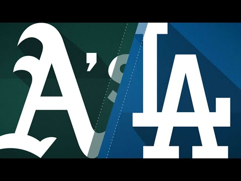 A's belt 21 hits in 16-6 win over Dodgers: 4/11/18