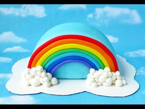 Rainbow Shaped Cake Images