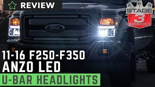 2011-2016 F250 & F350 ANZO Switchback U-Bar Projector Headlights Review