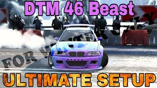 DTM 46 BEAST Ultimate Setup FOR EURO TOUR / Winter Tracks (BMW M3 E46 Tuned) CarX Drift Racing
