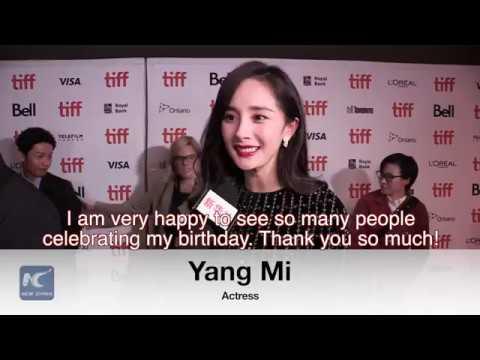 Yang Mi celebrates birthday along with film premiere in Toronto