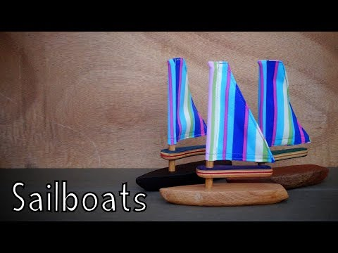 How To Make Wooden Toy Sailboats - Toys For Charity