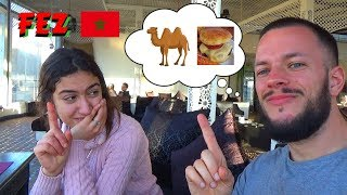 Eating A CAMEL BURGER & Hanging With A Local In Fez Morocco