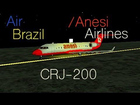 Air Brazil and Anesi Airlines Codeshare Flight #2 CRJ-200