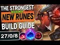 STRONGEST NEW RUNES BUILD GUIDE | CHO'GATH TOP | WHAT IS THIS DAMAGE? | SEASON 8 League of Legends