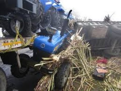 tractor accident caught on camera live || tractors zone ||